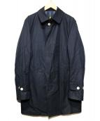 GRENFELL(グレンフェル)の古着「ステンカラーコート」|ネイビー