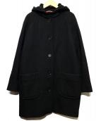 Comptoir des Cotonniers(コントワーデコトニエ)の古着「フーデッドコート」|ブラック