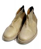 ARCOLLETTA PADRONE(アルコレッタ パドローネ)の古着「BACK GORE BOOTS 」|ベージュ
