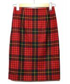 23区(ニジュウサンク)の古着「TARTANCHECK CLEARタイトスカート」 レッド