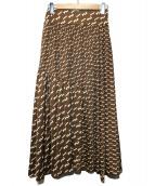 ROPE(ロペ)の古着「モノグラムジャージースカート」|ブラウン