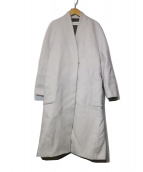 DES PRES(デプレ)の古着「カシミヤウールVカラーローブコート」|グレー