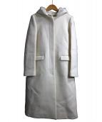 ESTNATION(エストネーション)の古着「2WAYフーデッドコート」|ホワイト