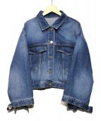 FRAY ID(フレイアイディー)の古着「オーバーサイズGジャン」|インディゴ