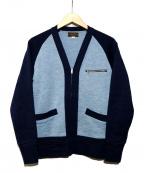 BUTCHER PRODUCTS(ブッチャープロダクツ)の古着「ジップカーディガン」|スカイブルー×ブルー