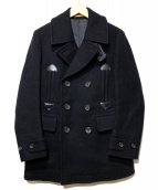 SCYEBASICS(サイベーシックス)の古着「カシミヤ混Pコート」 ブラック