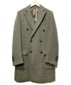 eleventy(イレブンティ)の古着「ウールコート」 カーキ