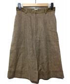 HERMES(エルメス)の古着「リネン混ハーフパンツ」|ブラウン