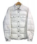 THE NORTHFACE PURPLELABEL(ザノースフェイスパープルレーベル)の古着「ダウンシャツジャケット」 ホワイト