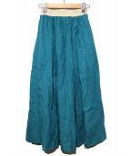 ONEIL OF DUBLIN(オニール オブ ダブリン)の古着「ACCORDION SWINGスカート」|黄緑