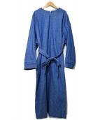 STUNNING LURE(スタニングルアー)の古着「2WAYデニムコートワンピース」|ブルー