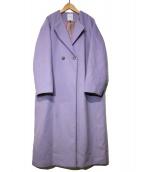 ROSE BUD(ローズバッド)の古着「ラペル折り返しAラインコート」|ラベンダー