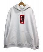 BlackEyePatch(ブラックアイパッチ)の古着「取扱注意 LABEL HOODIE」|ホワイト