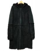 HUGO BOSS(ヒューゴボス)の古着「ムートンコート」|ブラック