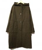 GIANNI LO GIUDICE(ジャンニ ロ ジュディチェ)の古着「ウール混フーディーコート」|カーキ