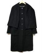 agnes b(アニエスベ)の古着「ノーカラーコート」|ブラック
