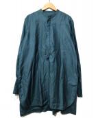 MACPHEE(マカフィ)の古着「コットンモールスキン ボザムシャツ」|ダークブルー