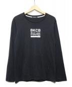 BLACK LABEL CRESTBRIDGE(ブラックレーベルクレストブリッジ)の古着「ポイントロゴカットソー」 ブラック