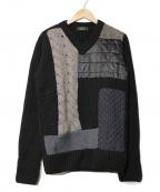 VIKTOR&ROLF(ヴィクターアンドロルフ)の古着「切替デザインニット」 ブラック