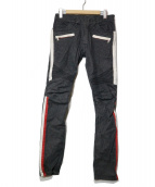 BALMAIN(バルマン)の古着「バイカーデニムパンツ」|ブラック