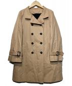 Rouge vif(ルージュヴィフ)の古着「ライナー付きスタンドカラーコート」|ピンク