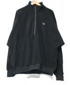 FRED PERRY(フレッドペリ)の古着「ハーフジップフリース」|ブラック