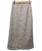 un dix cors(アンディーコル)の古着「カラーツイードスカート」|ベージュ