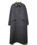 Paul Smith London(ポールスミスロンドン)の古着「アンゴラ混ロングコート」|チャコールグレー