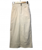 MACPHEE()の古着「コーデュロイIラインマキシスカート」|アイボリー