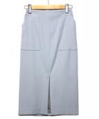 sophila(ソフィラ)の古着「ストレッチカルゼベーカータイトスカート」|サックスブルー