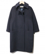 The SECRETCLOSET(ザシークレットクローゼット)の古着「メルトンビーバーコート」|ネイビー