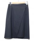 The SECRETCLOSET(ザシークレットクローゼット)の古着「ウールスカート」|ネイビー