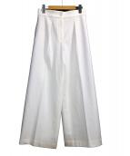 PLST(プラステ)の古着「センタープレスパンツ」|アイボリー