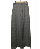 ROPE(ロペ)の古着「ストレッチストレートワイドパンツ」|グレー