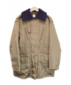 6(ROKU) BEAUTY&YOUTH(ロク ビューティアンドユース)の古着「BOA COLLAR ZIP COAT」 ベージュ