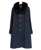 JUSGLITTY(ジャスグリッティー)の古着「フォックスファーウールコート」|ブラック
