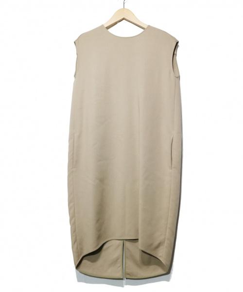 ELIN(エリン)ELIN (エリン) modal asymmetry dress ベージュ サイズ:Sの古着・服飾アイテム