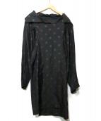 tricot COMME des GARCONS(トリココムデギャルソン)の古着「リバースデザインシャツワンピース」|ブラック
