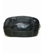 aniary(アニアリ)の古着「クロコレザーウエストバッグ」|ブラック