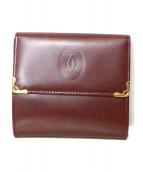 Cartier(カルティエ)の古着「3つ折り財布」 レッド