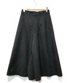 BEARDSLEY(ビアズリー)の古着「スウェードタッチワイドパンツ」 ブラック
