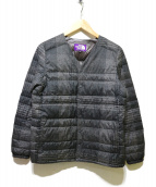 THE NORTH FACE(ザノースフェイス)の古着「Tweed Print Down Cardigan」|グレー