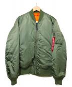 ALPHA(アルバ)の古着「MA-1ジャケット」 オリーブ