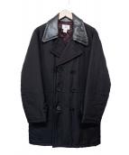 ARMANI EXCHANGE(アルマーニエクスチェンジ)の古着「中綿切替Pコート」 ブラック