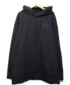 Y-3(ワイスリ)の古着「CLASSIC CHEST LOGO HOODIE」 ブラック