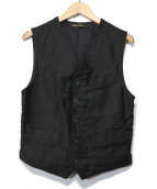 LE LABOUREUR(ラブルール)の古着「フレンチワークベスト」 ブラック