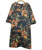 VIVIENNE TAM(ヴィヴィアン・タム)の古着「ザクロプリントジャガードワンピース」|ネイビー