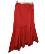 Jean Paul Gaultier FEMME(ジャンポールゴルチェ フェム)の古着「ペプラムマキシスカート」|レッド