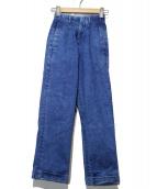Denham(デンハム)の古着「タックデニムパンツ」 インディゴ