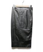Jean Paul GAULTIER(ジャンポールゴルチェ)の古着「フェイクレザータイトスカート」|ブラック